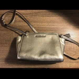 Michael Kors Selma Mini Messenger Bag Silver